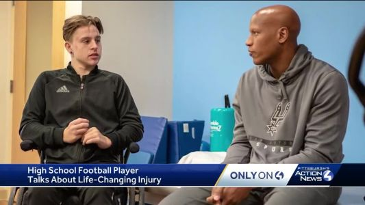 A road to recovery for injured high school football player