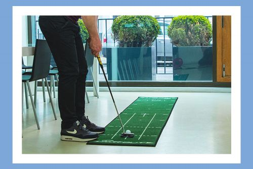 Perfect your putting with the ultimate at-home golf studio