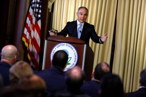 Scott Pruitt's schedule is marked by speeches to climate denial and Koch funded groups