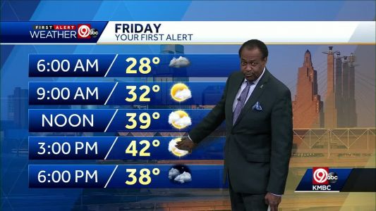 Friday will be mostly cloudy; rain chances increase by evening