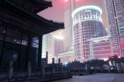 There are few things in life as eerie as China's neon-lit