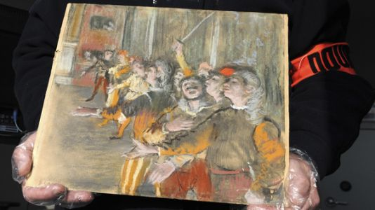 Customs Agents Search A Bus Near Paris - And Discover A Stolen Degas Painting