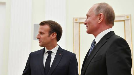 Macron accepts Putin's invitation to attend celebrations of 75th anniversary of victory in WWII