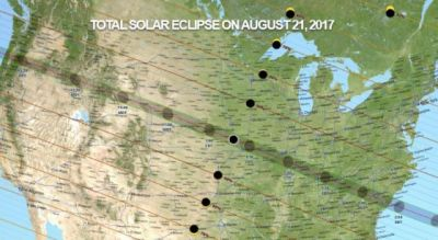 See the Path of the 2017 Total Solar Eclipse As It Moves Across the U.S