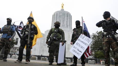 Cops outnumber protesters at state capitols across the US, as the FBI's 'uprising' evaporates