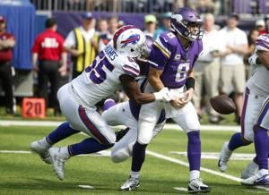 Pressured by Bills D, Cousins drops ball in Vikings defeat