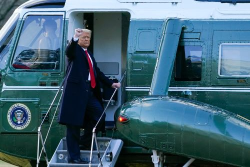Trump departs White House for final time as president