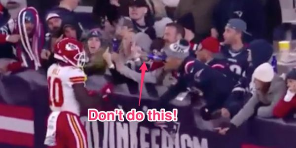 Patriots ID fan who tossed beer on Chiefs player and say they have turned the matter over to police