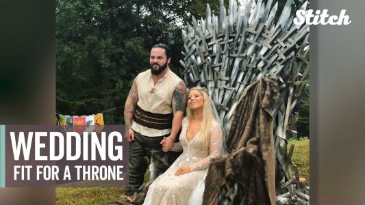Welder makes wife iconic iron throne for their 'Game of Thrones' themed wedding