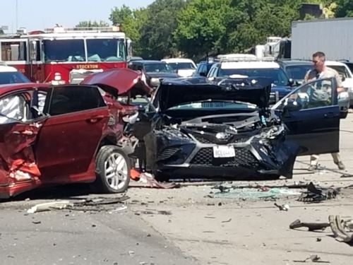 Man drives 3 cars, repeatedly crashes in afternoon carjacking spree, California authorities say