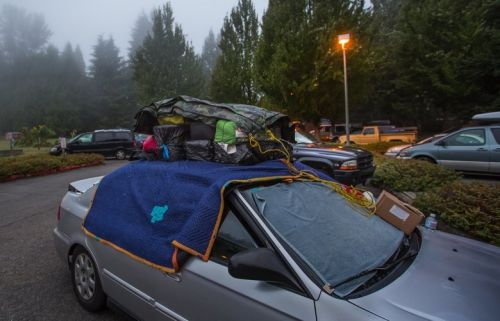 Parking spots for the homeless in Seattle, finally. But at a thousand bucks a month?