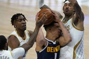 Porter, Nuggets beat Mavericks 117-113 after Murray ejection