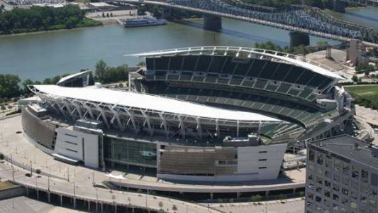 Take a yoga class on the field at Paul Brown Stadium