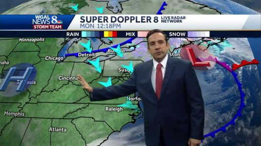 Blustery with Winter Chill Monday & Tuesday; More Rain Late in Week