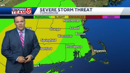 Video: Slight risk for severe storms Friday