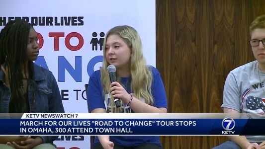 March For Our Lives 'Road to Change' tour stops in Omaha