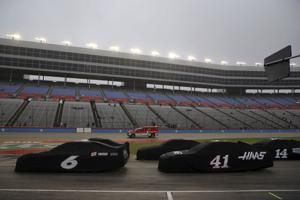 NASCAR's Cup playoff at misty Texas put on hold another day