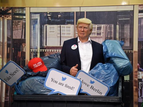 Berlin's Madame Tussauds put its wax Trump statue in a garbage bin just days before US election