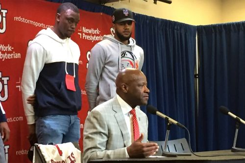 Mike Anderson's St. John's introduction included two important guests