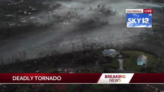 Video: Drone footage shows aftermath from tornado that ripped through Alabama