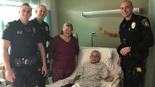 Lodi officers take woman to see husband on 34th anniversary