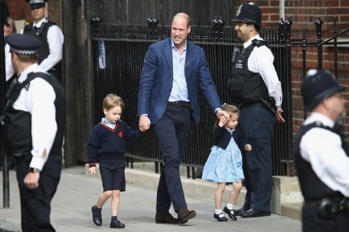 Prince William brought Prince George and Princess Charlotte to the hospital to meet their new sibling