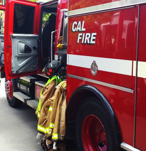 Tiki bar ordered removed from Cal Fire station