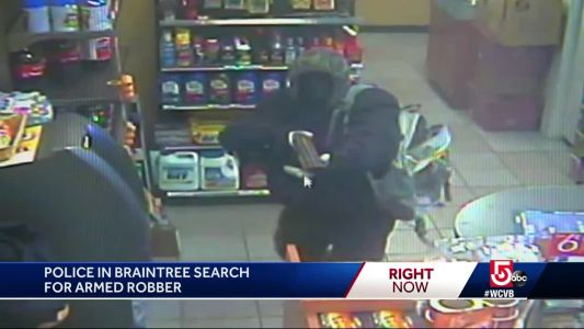 Police search for robber armed with shotgun in Braintree