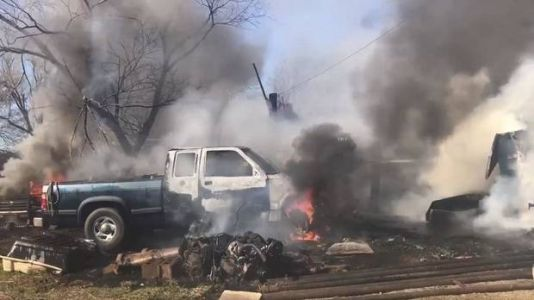 Firefighters battling Friday afternoon fire in NE OKC