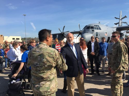 Governor Wolf welcomes home National Guard troops from overseas