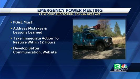 PG&E called to emergency meeting to answer questions about power shutoffs
