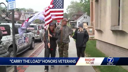Cross-country relay honoring vets, first responders stops in Omaha