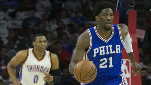 Russell Westbrook on whether he can get along with Joel Embiid at All-Star Game: 'Next question'