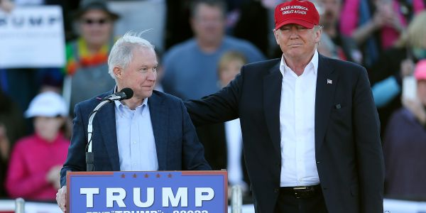 Trump campaign calls Jeff Sessions 'delusional' for running for Senate on his support of the president