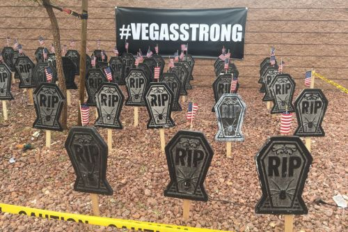 Someone thought this Vegas massacre Halloween display was a good idea