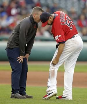 Carrasco injures left leg in Indians' 3-1 loss to Marlins
