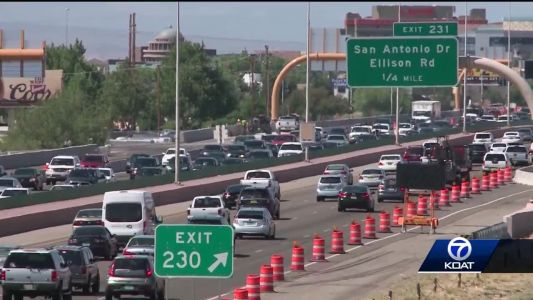 Holiday weekend travelers hit the road