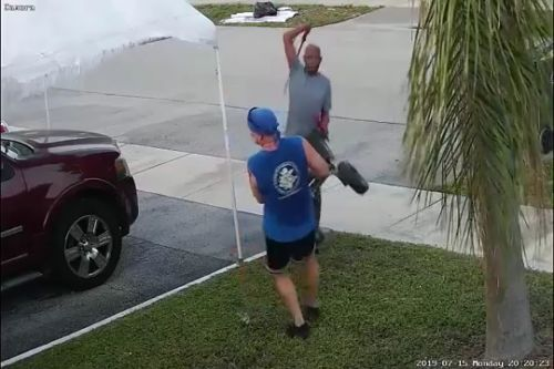 WATCH: Florida man swings sword at jogger during fight over pile of trash