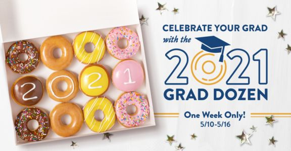Graduating? Get a free dozen Krispy Kremes on this day