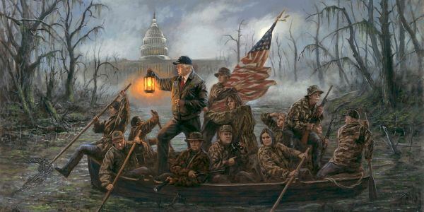 Conservative artist Jon McNaughton doesn't care about the haters, he just wants to paint Trump and Jesus