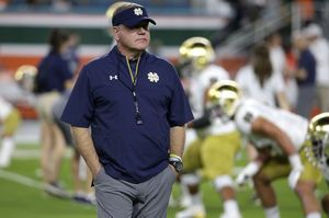 No. 9 Notre Dame's Kelly has 2-9 road mark vs top 20 teams