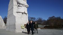 Trump Makes Surprise Visit To MLK Memorial, Leaves After About 2 Minutes