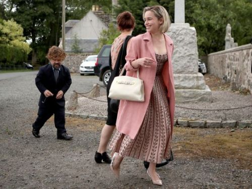 Sophie Turner and Maisie Williams' Coordinated Outfits Stole the Show at Kit Harington's Wedding