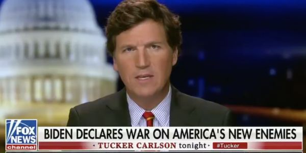 Tucker Carlson stressed about Biden's war on white supremacy and Sean Hannity renewed attacks on Hunter in a first wave of Fox News attacks on the new administration