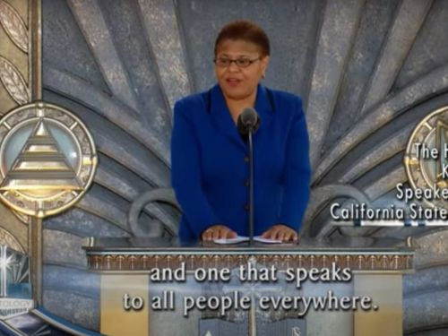 Joe Biden's vice presidential contender Rep. Karen Bass defended a resurfaced video in which she praises the Church of Scientology