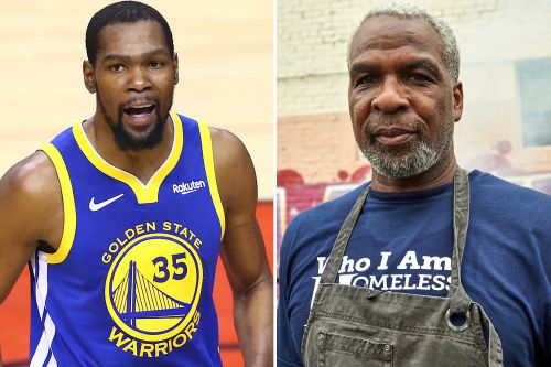 Kevin Durant meets with Knicks legend