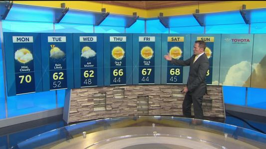 Mild fall temperatures