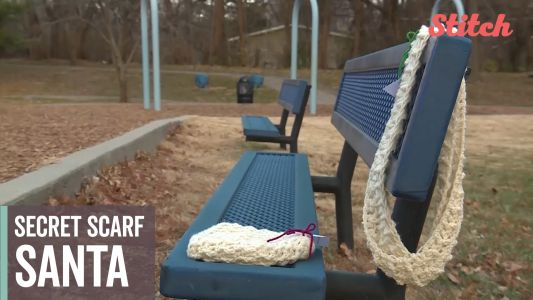 """Secret Scarf Santa"" donates handmade accessories to keep people warm"