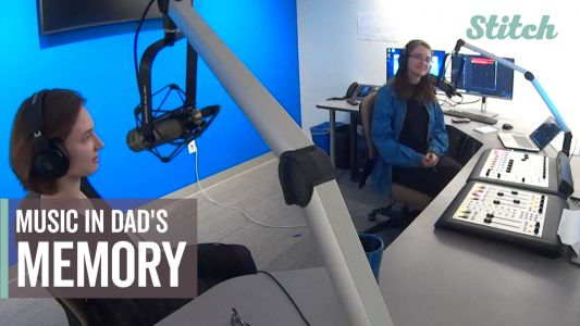 'He still lives on through us': Sisters start college radio program in memory of their dad
