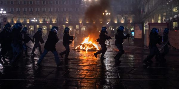 People across Italy violently protested new lockdown measures imposed after a spike in COVID-19 cases, setting fires and looting luxury stores